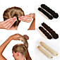 2Pcs  Magic Style Hair Styling Tools Buns Braiders Curling Headwear Hair Rope Hair Band Accessories 4611