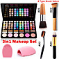 3in1 Makeup Set 78 Colors 3in1 6012 Eyeshadow 6 Blusher Makeup Cosmetic Palette1 Blush Brush1 Brush Egg 4611