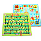 Wooden Puzzles Maze Toys Plane Fairytale Theme Stress and Anxiety Relief Decompression Toys Classic Kids Adults' 2 Pieces 4611