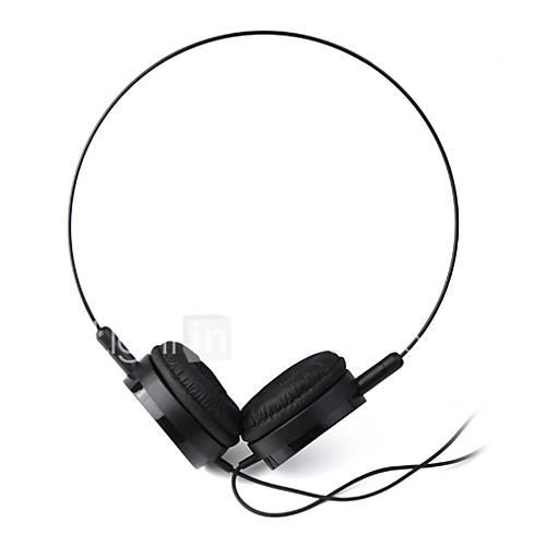 casque 3,5 mm sur l'oreille audio léger pour pc / téléphones (noir)