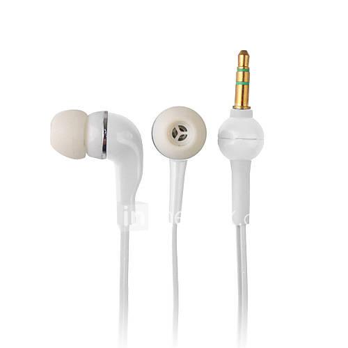 élégante de haute qualité des écouteurs, cordon de 1,2 m, 3,5 mm (blanc)