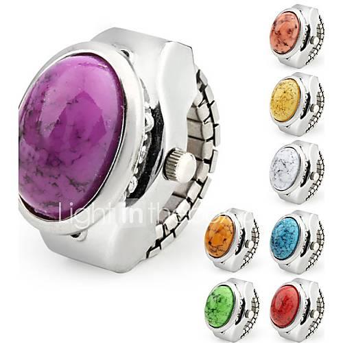 Orologio-anello in metallo