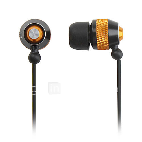 élégants écouteurs stéréo intra-auriculaire (or)