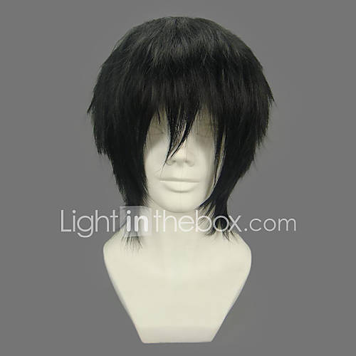 Cosplay Wigs One Piece Monkey D. Luffy Black Short / Straight Anime Cosplay Wigs 32 CM Heat Resistant Fiber Male