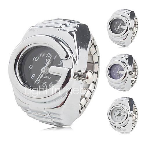 Anello unisex orologio analogico (argento)