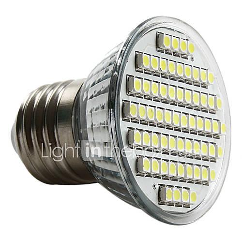 MR16 4W 240lm Warm White Light 60*3528 SMD LED Cup Bulb (DC 12V)