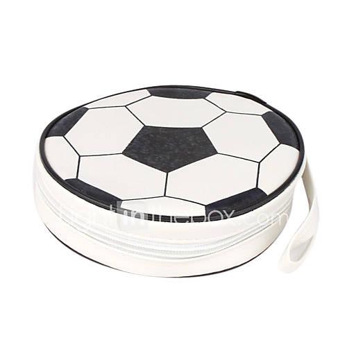 Fußball-Design CD-Hülle (für 24 CDs, weiß und schwarz)