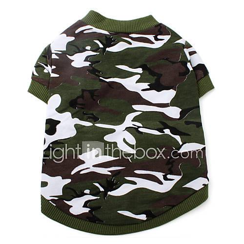 Perros Camiseta Verde Ropa para Perro Verano Primavera/Otoño camuflaje Moda Descuento en Miniinthebox