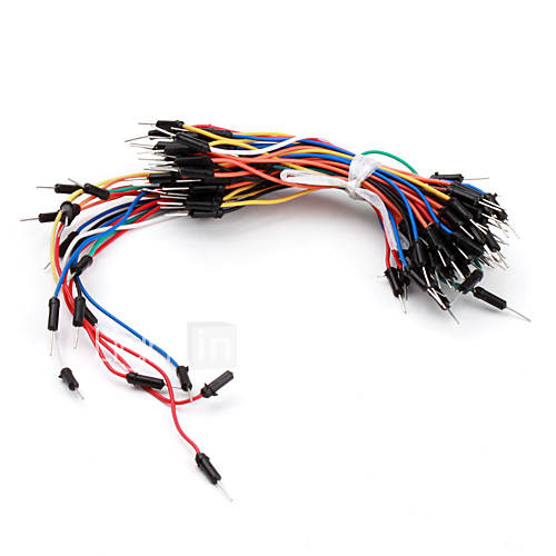 electrónica de bricolaje de soldadura protoboard menos flexibles cables de puente de cable 65pcs Descuento en Miniinthebox