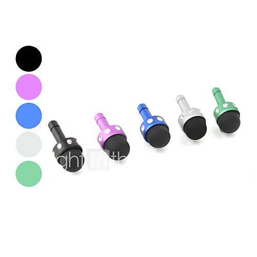 mini stylo tactile stylet avec sangle prise anti-poussière pour iPhone (couleurs assorties)