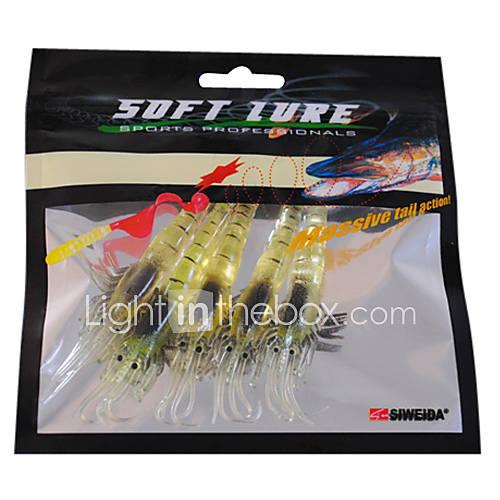 Luminous Craws Shrimp Soft Bait fishing lures (5 Pieces/Pack)