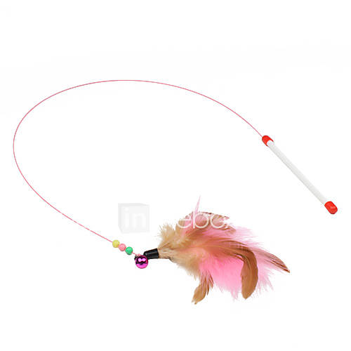 Teaser Feather Toy Stick Plastic For Cat Cat Toy