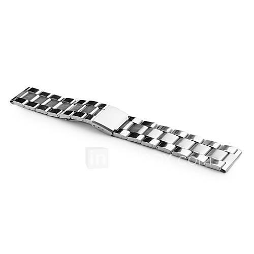 unisexe Bracelet montre acier inox 20mm (argent)