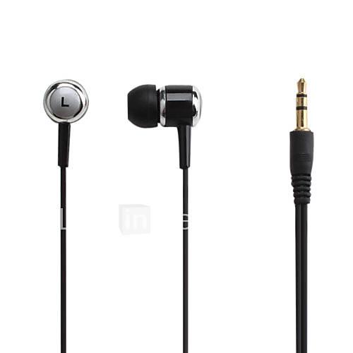 métallique dans l'oreille d'écouteurs stéréo pour la musique ipod/ipad/iphone/mp3