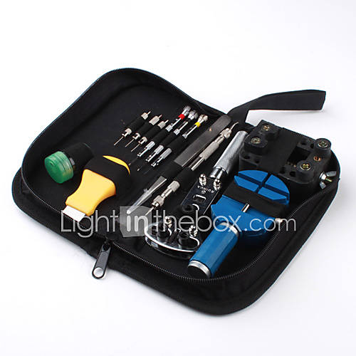 13-piece tool kit de reparación de relojes caso abridor de primavera bar Descuento en Miniinthebox
