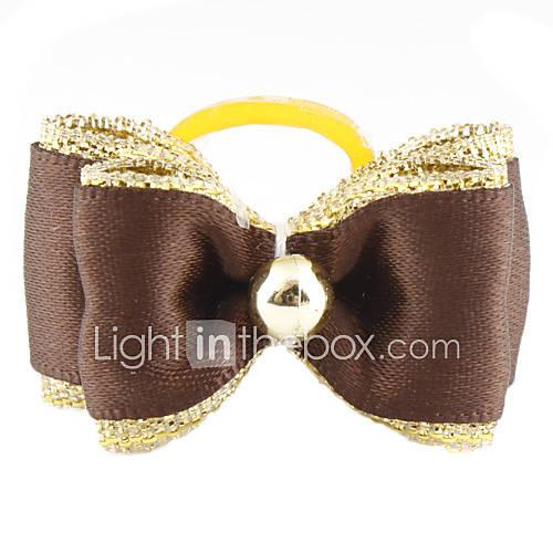 Oro Brim Piccolo gomma capelli Bow
