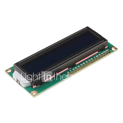 1602A 16 x 2 Zeilen Weiß Character LCD-Modul mit blauer Hintergrundbeleuchtung (DC 5V)