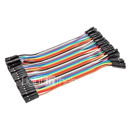dupont hembra a hembra cable line 41p-41p prueba de líneas de conexión (10 cm) de alambre Descuento en Miniinthebox