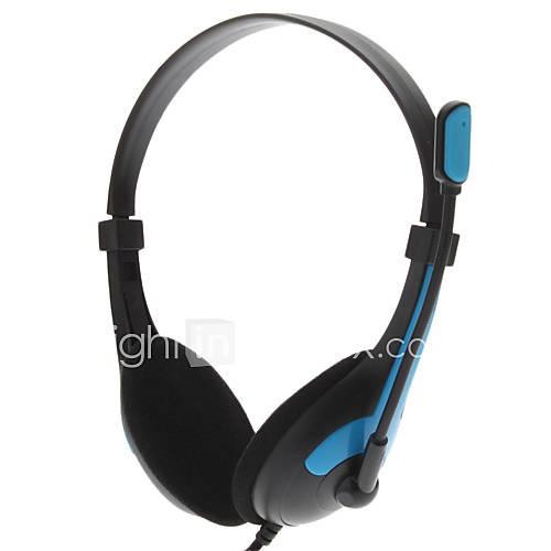 lp LPS-1007 casque 3,5 mm stéréo sur l'oreille ergonomique avec volume du microphone jeu de commande skype pour PC / ordinateur portable