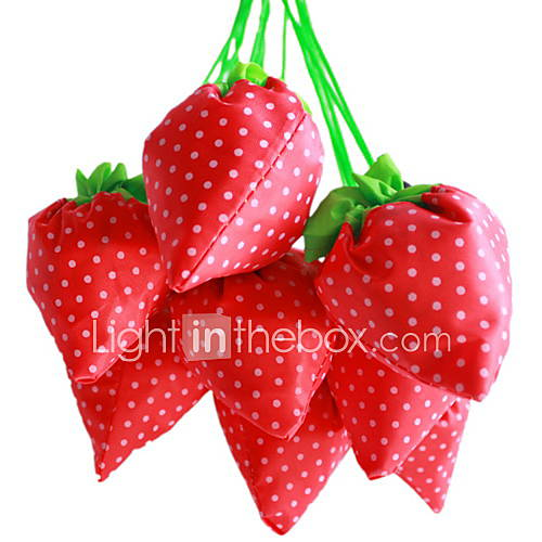 Strawberry Design Textile Shopping Bag(Random ...