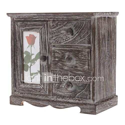 Vintage Wooden Chest Stil Schmuck Accessoires Storage Box Drawer