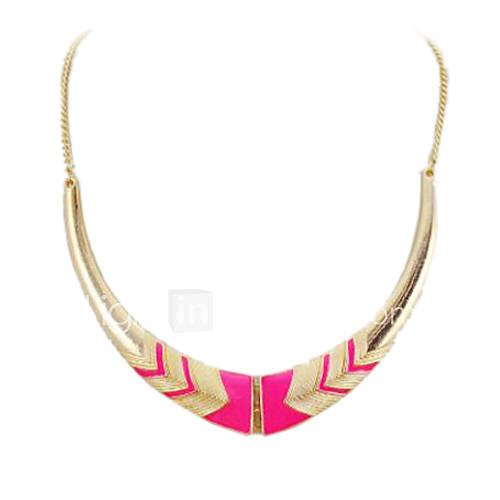 oro plegable plateado collar de la aleación con forma de media luna (colores surtidos) Descuento en Miniinthebox