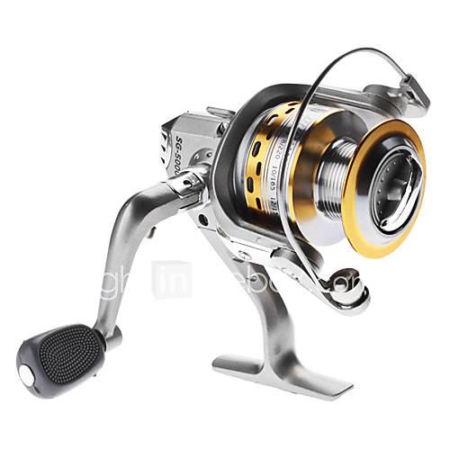 Silver Aluminum 4BB Spinning Reel (0.5/100)