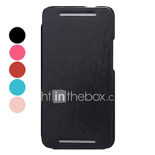 Elegante custodia in pelle Pieno corpo dell'unità di elaborazione con supporto e alloggiamento per schede per HTC One