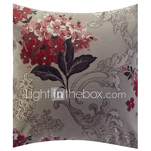 Traditional Floral Jacquard Dekorative Kissenbezug