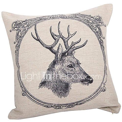 Traditionelle Deer Baumwolle / Leinen Dekorative Kissenbezug