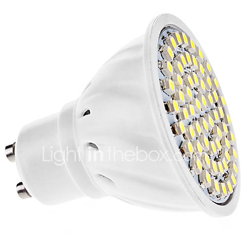 LeXing LX-004-HP GU10 3W 150lm 7000K 60-SMD 3528 Cool White Spotlight Bulb - Silver