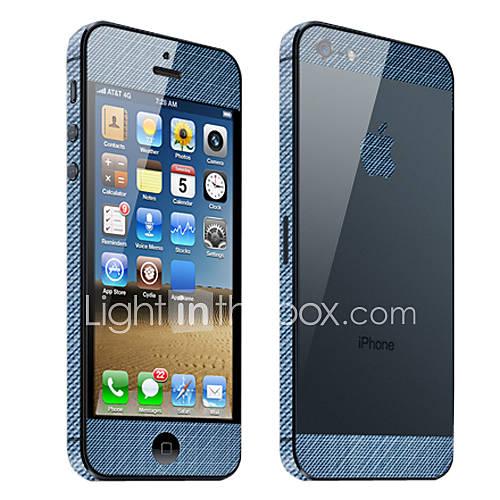 Demin modèle de garde de corps de peau pour l'iPhone 5