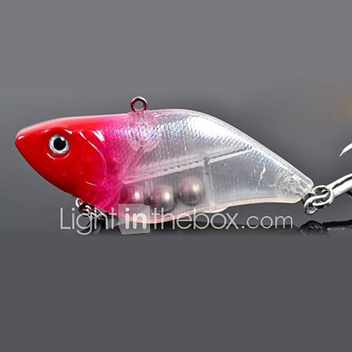 "1 pcs Hard Bait Vibration/VIB Fishing Lures Hard Bait Vibration/VIB Green Yellow Silver Red Blue g/Ounce mm/2-3/4"" inchHard PlasticSea"