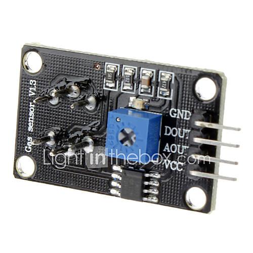 kompatibel Rauch-Gassensor-Modul für (für Arduino) - Schwarz  Silber