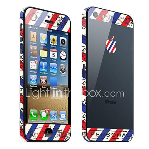 Stripe Envelope Patron de garde de corps de peau pour l'iPhone 5