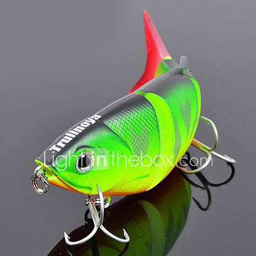 "1 pcs Hard Bait Minnow Fishing Lures Hard Bait Minnow Green Orange Yellow Blue g/Ounce80 mm/3-1/4"" inchHard PlasticSea Fishing"
