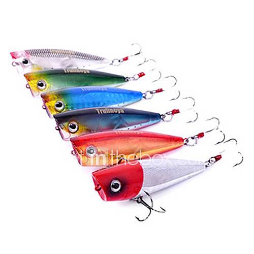 pcs Hard Bait Popper Black Green Silver Red Blue g/Ounce mm inchHard Plastic Sea Fishing Freshwater Fishing