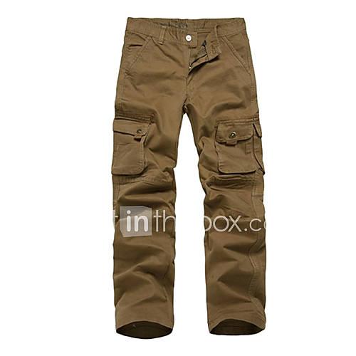 Herren Outdoor Multi-Pockets Casual Pants