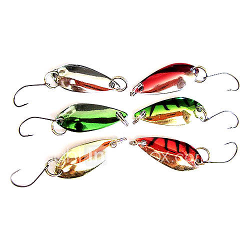 1 pcs Hard Bait Metal Bait Fishing Lures Hard Bait Metal Bait Green Gold Silver Red g/Ounce mm inchMetal Sea Fishing Freshwater Fishing