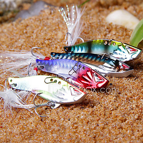 "1 pcs Hard Bait Metal Bait Vibration/VIB Fishing Lures Vibration/VIB Hard Bait Metal Bait g / Ounce 40mm mm / 1-5/8"" inch Metal Sea"