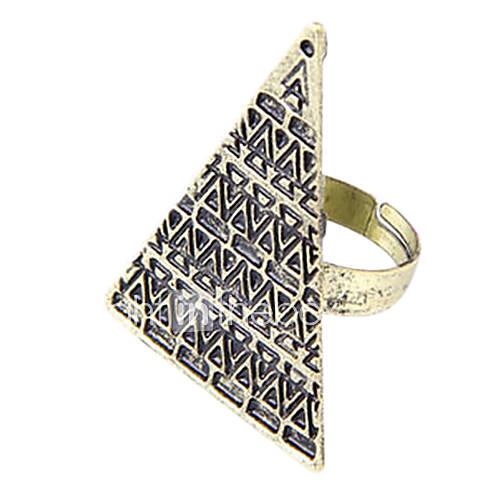 personalisierten Schmuck Zustrom von Menschen in Europa und Amerika Retro-Modelle Pyramide Ring (gelegentliche Farbe)