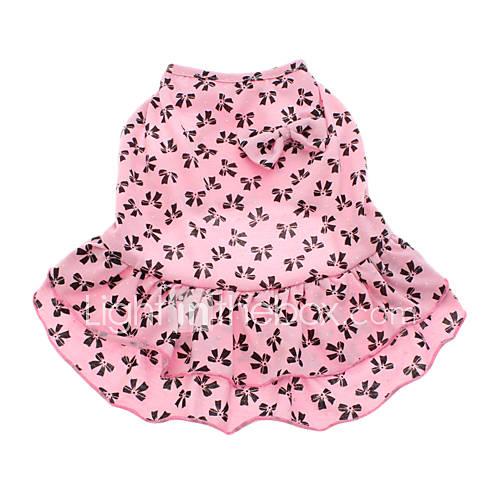Perros Vestidos Rosado Ropa para Perro Verano Lazo Miniinthebox por 6.85€