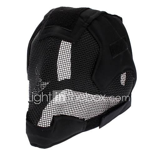 niedrigem Kohlenstoffstahldraht Netz voller Gesichtsschutz Maskenband und Nylon Verschlussband Aktivität - schwarz
