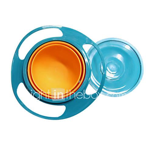 Gravity Bowl Spill Resistant Kids Snack Food DishLid No Mess Dishwasher