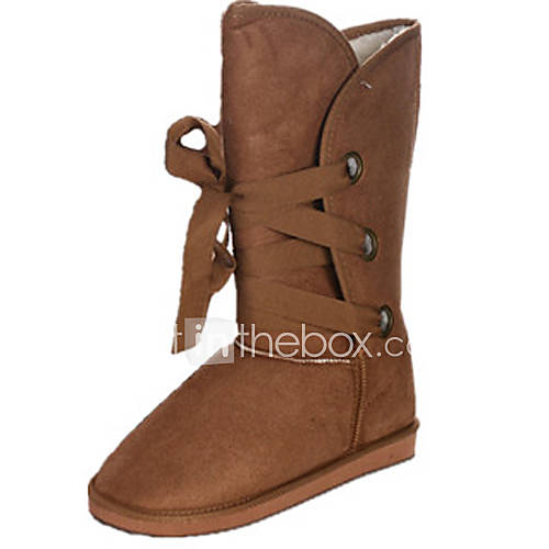 Frauen Lace-up Mid-Calf Boots