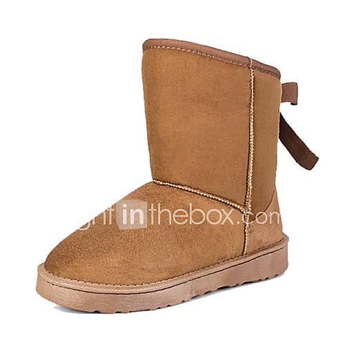 Frauen Isolierte bowknot Boots