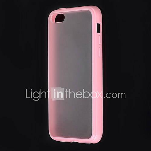 Frotter TPU couverture arrière dur pour l'iPhone 5C (rose)