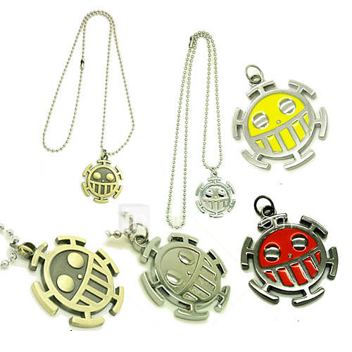 Jewelry Inspired by One Piece Trafalgar Law Anime Cosplay Accessories Necklace Red / Yellow / Golden / Silver Alloy Male