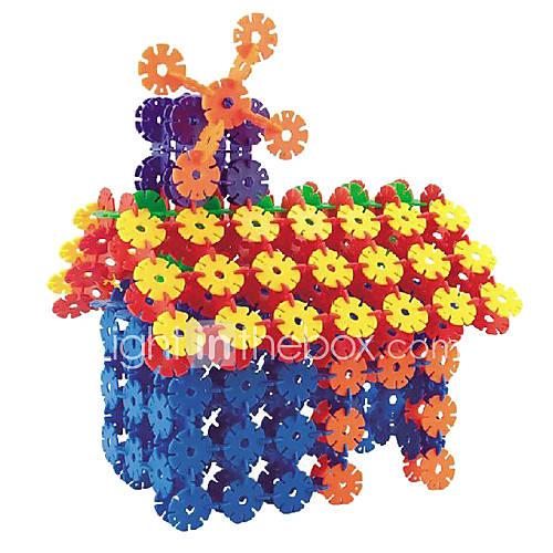 Kinder pädagogisches Spielzeug Schnee Tabletten Bausteine Kinder Schneeflocken Blocks Spielzeug (108 Stück in einer Packung)