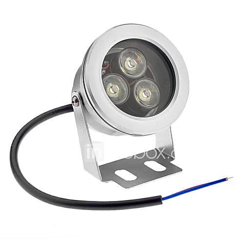 9W Lumière Sous-marine 3 LED Haute Puissance 800 lm Blanc Froid Etanches AC 12 V